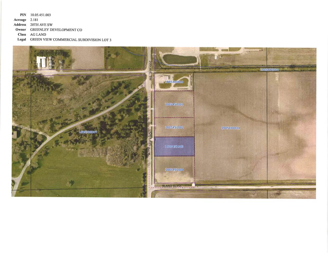TBD 20th Ave. S.W. Property Photo - Independence, IA real estate listing
