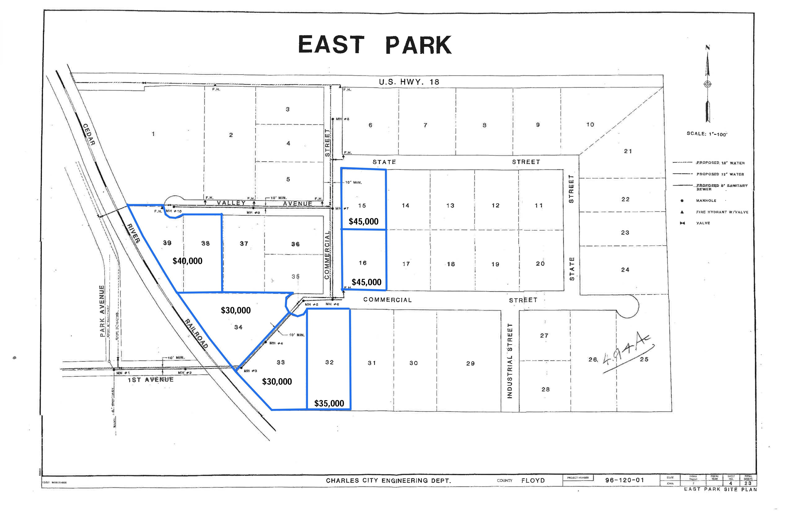 Commercial #Lots 38 & 39 Property Photo - Charles City, IA real estate listing