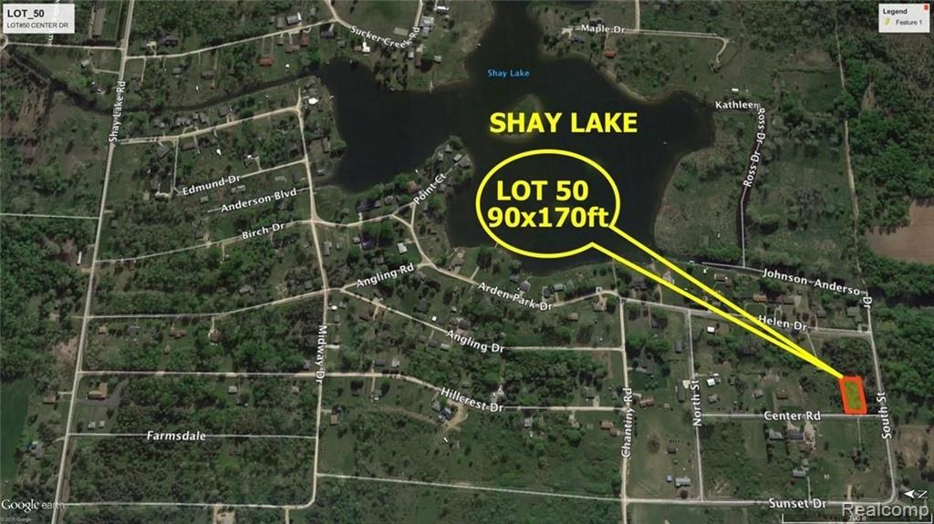 LOT #50 CENTER Property Photo - Dayton Twp, MI real estate listing