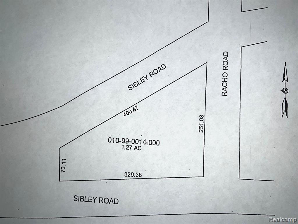 VACANT SIBLEY Road Property Photo - Brownstown Twp, MI real estate listing